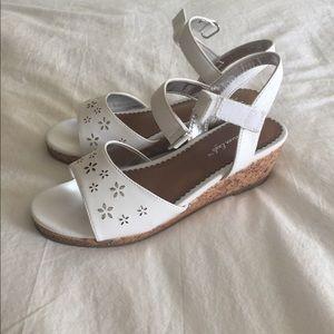 NWOT White Formal Wedge Sandals